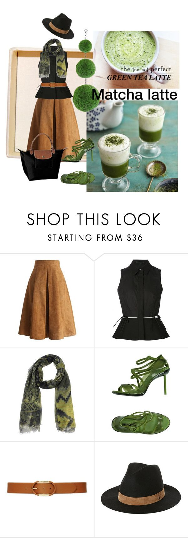 """In the mood for something green"" by jimenaxoxo on Polyvore featuring Chicwish, Alexander Wang, Manifatture Alto Biellese 1947, Melissa, Lauren Ralph Lauren, Volcom, Longchamp, women's clothing, women and female"