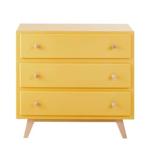 Commode en bois jaune L 85 cm Sweet   Maisons du Monde
