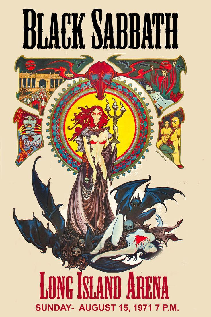 ROCK: Ozzy Osbourne & Black Sabbath at Long Island Arena Concert Poster 1971 #music #design