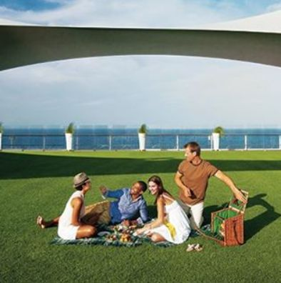 #Celebrity Solstice | A picnic on the Lido Deck ... bliss