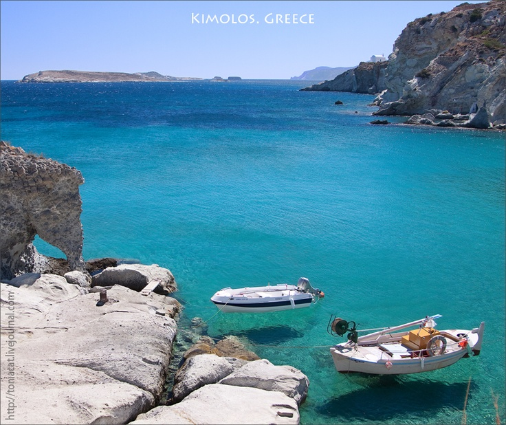 Kimolos island. flying boats