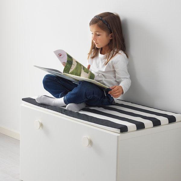 STUVA FÖLJA Bank met bergruimte, wit, 90x50x50 cm IKEA