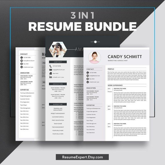 Professional Resume Cv Templates Compatible With Ms Word Etsy