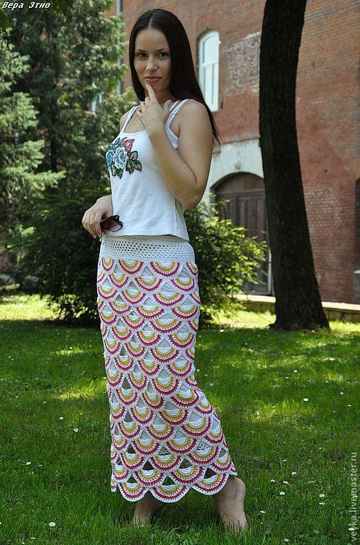 """Купить Юбка """"Половинки лета"""" - юбка, юбка в пол, юбка длинная, юбка летняя"""