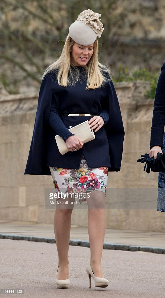 Autumn Phillips attends the Easter Service at St George's Chapel at Windsor Castle on April 5, 2015 in Windsor, England.