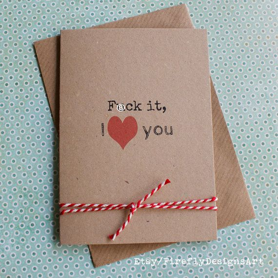 F@ck it, I love you! Funny smart Irish greeting card