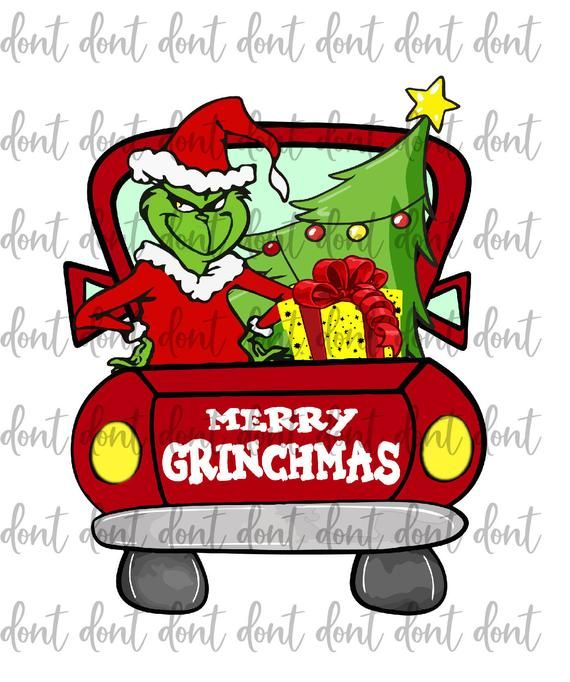 Grinch Truck Png Merry Grinchmas Png Grinch Face Png Etsy Grinch Christmas Christmas Truck Grinch Images