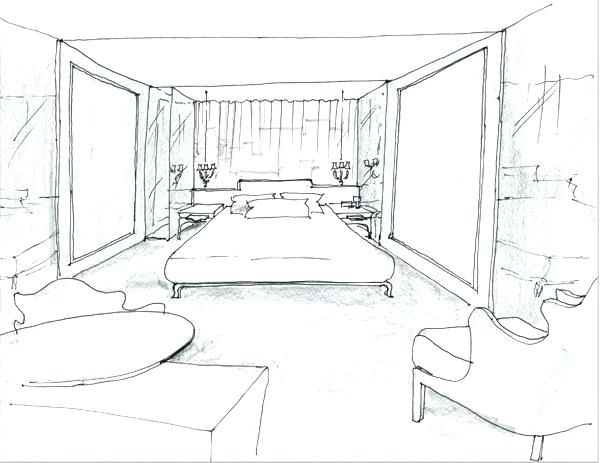 Interior Design Bedroom Drawing Bedroom Drawings Bedroom In One
