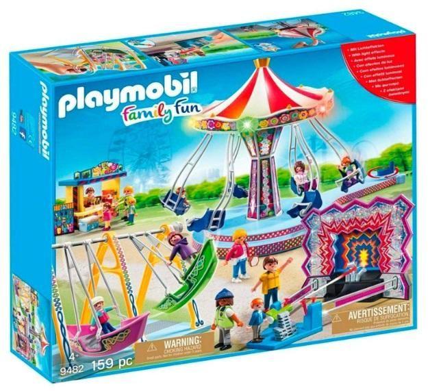 Playmobil 9482 Feria Con Atracciones Playmobil Juguetes De Playmobil Dibujo De Globo Aerostatico