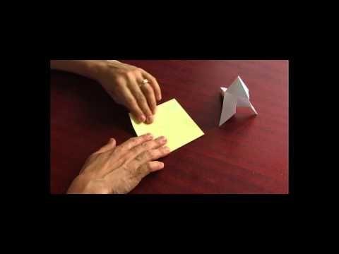 Origami Papiroflexia Pájaro sencillo para los niños | mochilatic