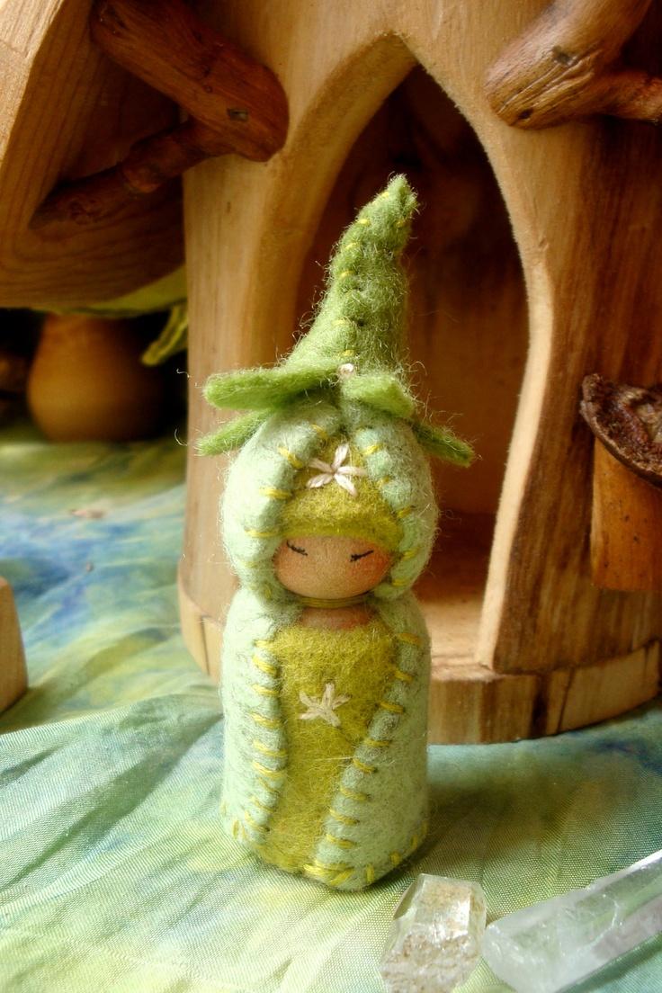 Little Bean Gnome Waldorf Dollhouse Doll Natural Play