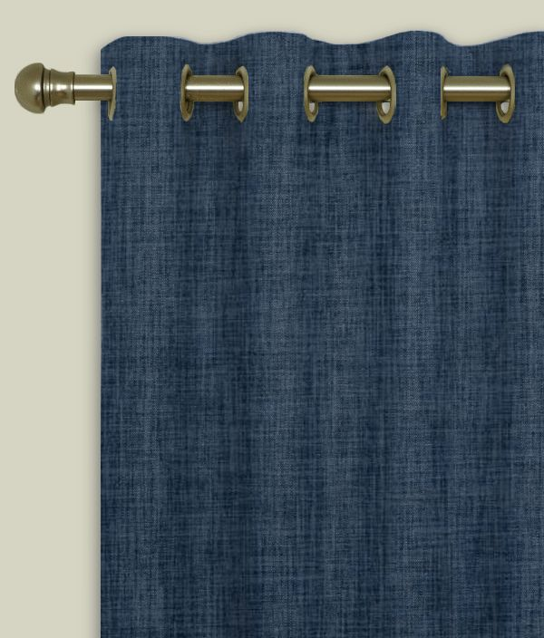 Made To Measure Eyelet Curtains Linoso Denim