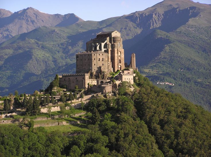 Sacra di San Michele - Avigliana - Italy (I think this is the castle the creators of Skyrim modeled Whiterun after!)