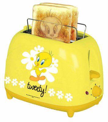 Den hätte ich soooo gerne......*wünsch*...... Toaster Tweety! http://www.traderthailand.com/looneytunesproducts.html