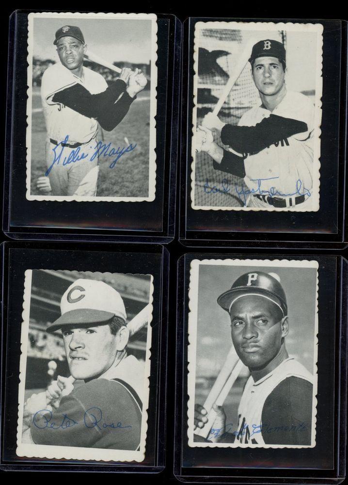 1969 Topps Deckle Edge Baseball Complete Set W Yastrzemski Mays