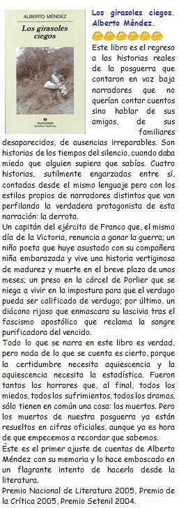 Los girasoles ciegos. Alberto Méndez