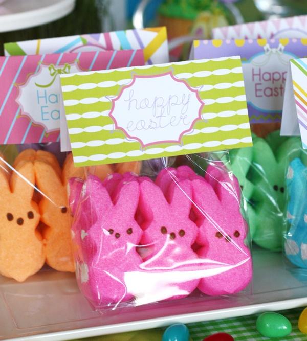 Happy Easter: DIY Simple Peeps Favors