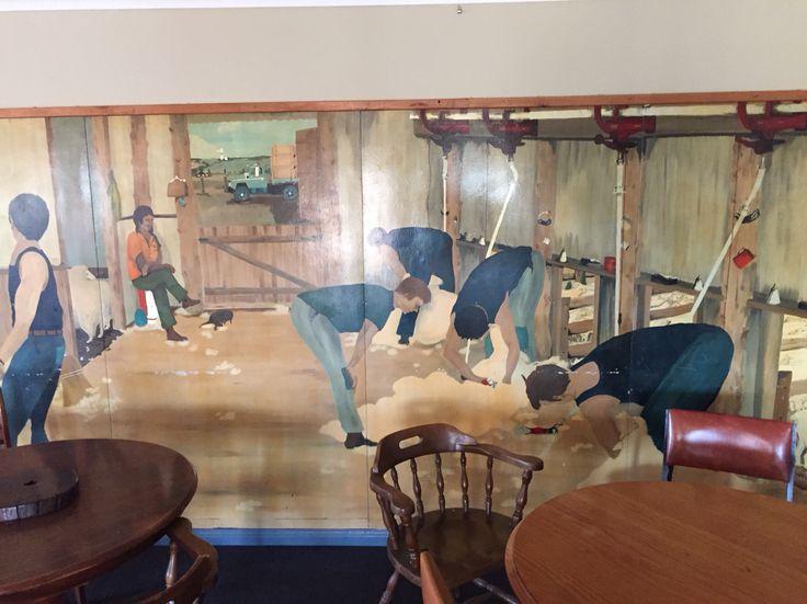 Mural of shearers