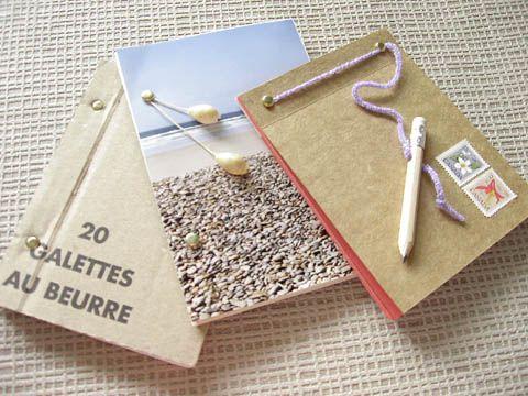 faire dec carnets recyclés avec des attaches parisiennes