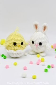 Amigurumi Chick and Bunny - FREE Crochet Pattern / Tutorial
