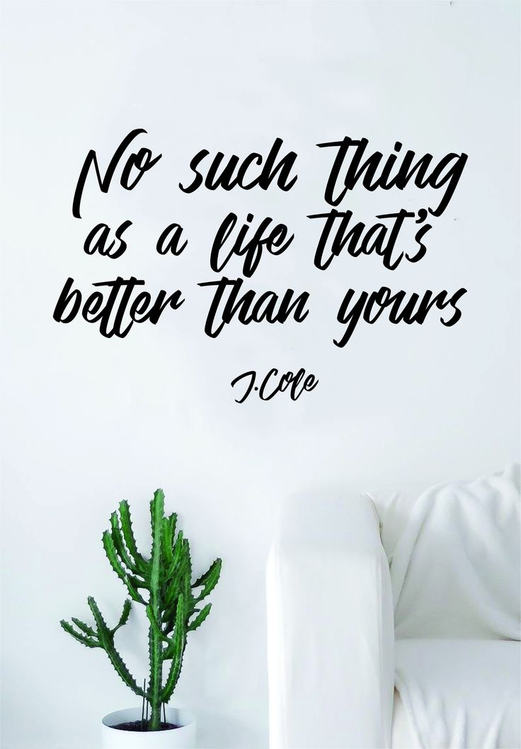 J Cole No Such Thing Quote Wall Decal Sticker Room Art Vinyl Rap Hip Hop Lyrics Music Cole World Inspirational