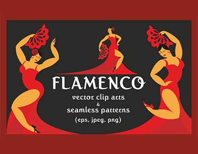 "Check out new work on my @Behance portfolio: ""Flamenco. Vector clip arts and patterns."" http://be.net/gallery/52121669/Flamenco-Vector-clip-arts-and-patterns"