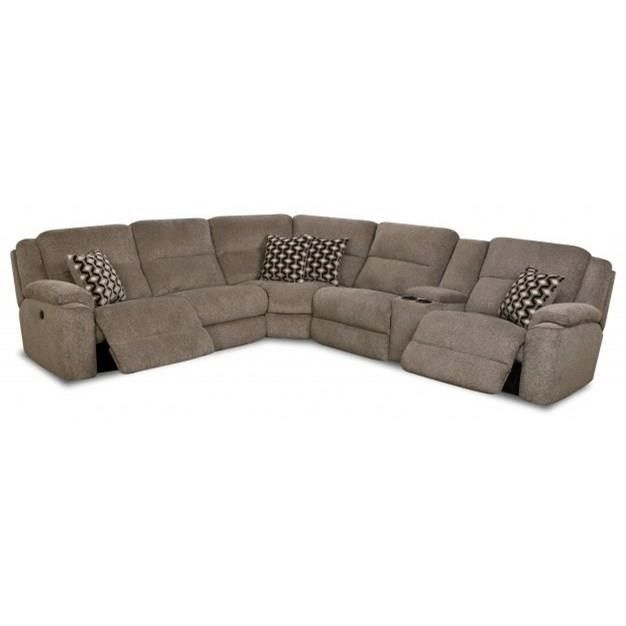Casual Power Reclining Sectional Sofa With Usb Charging Cup