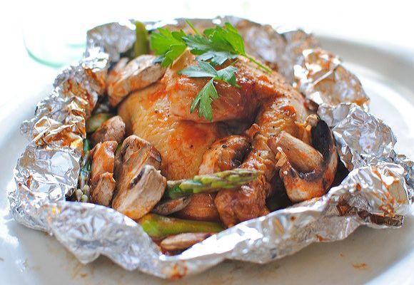 Chicken dinner to DIE for!Foil Dinner, Chicken Recipe, Chicken Dinners, Grilled Chicken, Chickendinner, Rotisserie Chicken, The, Foil Packets, Dinner Recipe