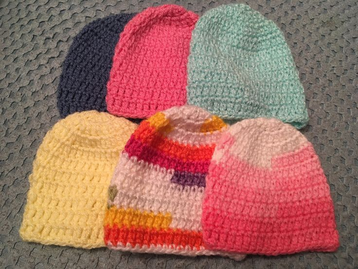 Newborn hats for the HDU at the local maternity hospital.