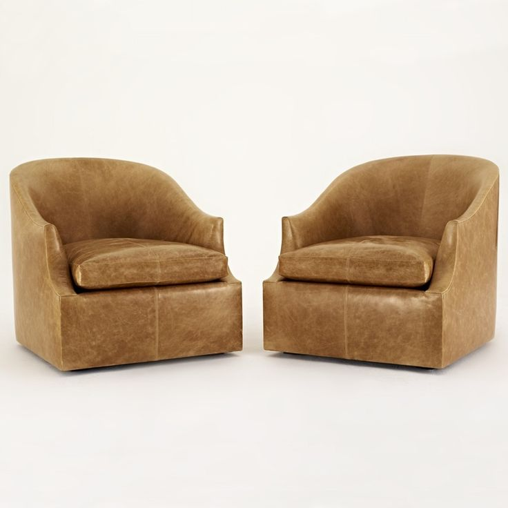 EOS FLOATING BARREL CHAIR - Transitional Mid-Century / Modern Swivel Chairs - Dering Hall