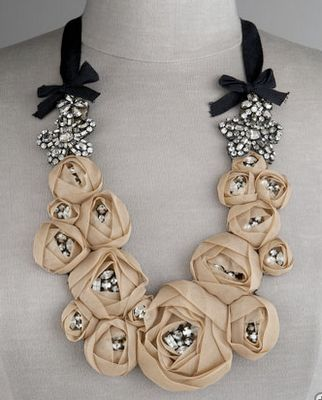 Vera Wang  Rosette Necklace