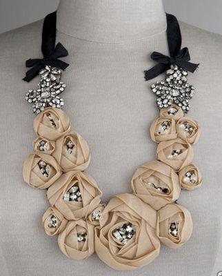 Vera Wang  Rosette Necklace