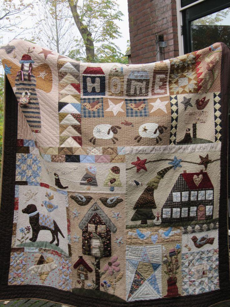 de born to quilt quilt gemaakt tussen en