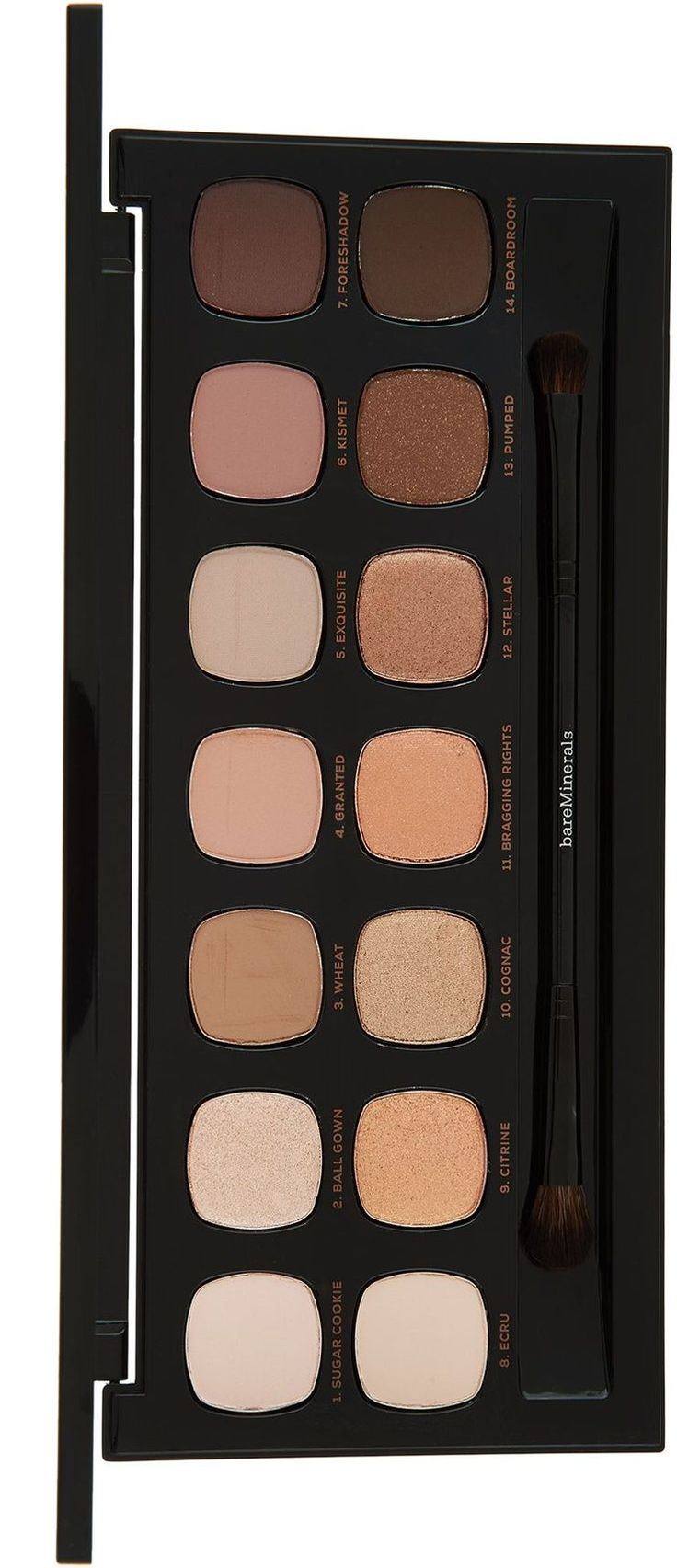 Another day, another 14.0 Ready Eyeshadow Palette! The Bare Minerals The Bare Metals Ready Eyeshadow Palette ($40) is a new delicious nude palette inspired