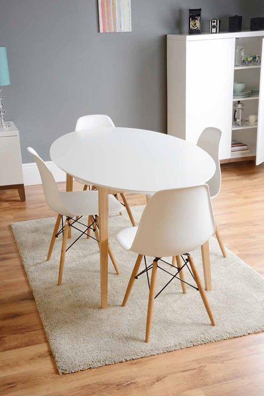Tretton White Round Dining Table   4x Eames White Replica DSW Chairs59 best EAT REPLICA images on Pinterest   Chairs  Dining chairs  . Eames Saarinen Replica Organic Chair Perth. Home Design Ideas