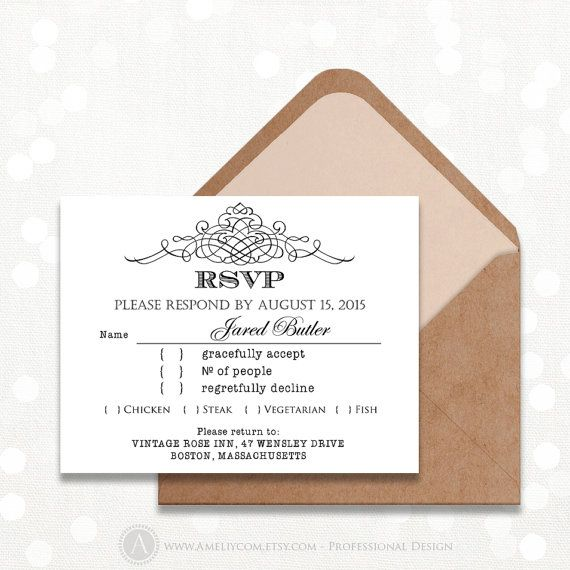 25 Best Images About Rsvp On Pinterest