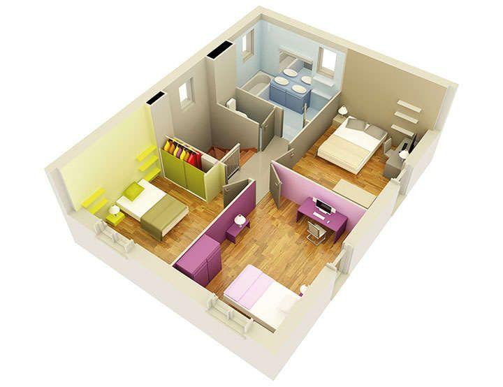 maison personnalisable pdv creathena etage mdcrea concept plan - plan maison 5 pieces