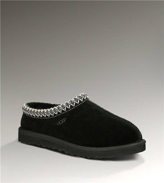 Ugg Tasman 5955 Black Slippers $86.00 http://www.salesnowboots.com/ugg-tasman-5955-black-slippers-p-346.html