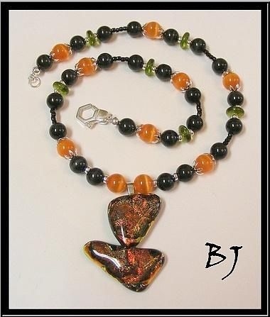 Halloween Colors But Not Just For Halloween In This Necklace Set by Jewelry as Artistic Expression