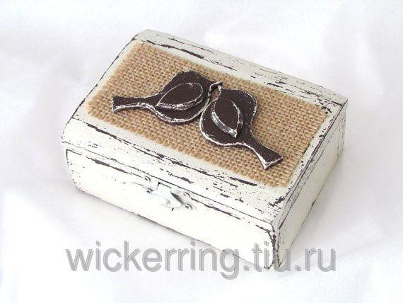 Белая шкатулка для ювелирных изделий, фото 1