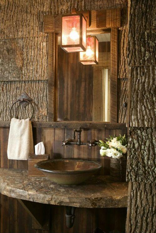 Great wood idea for a cabin bathroom or motel.  Primitive...tumblr_mij8qoFeIY1s24hmho1_500.png (500×749)