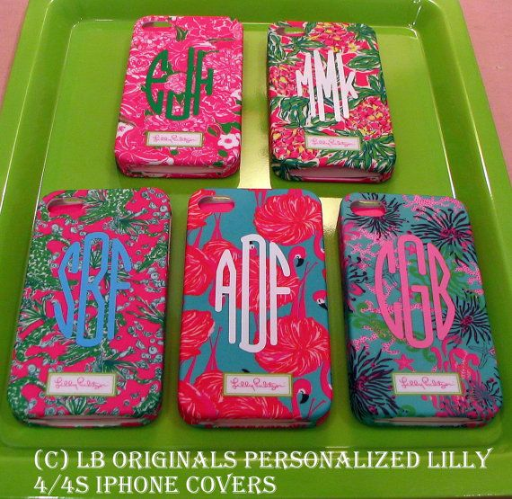 Personalized Lilly iPhone cover by preppypapergirl on Etsy, $31.00
