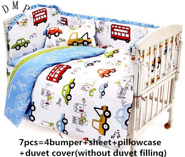 Promotion! 6PCS Baby Girl Bedding Set Quilt Nursery Cot Crib Bedding (bumper+sheet+pillow cover) #Affiliate