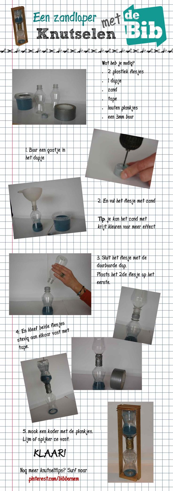 Zelf een zandloper maken met gerecyleerde petflessen