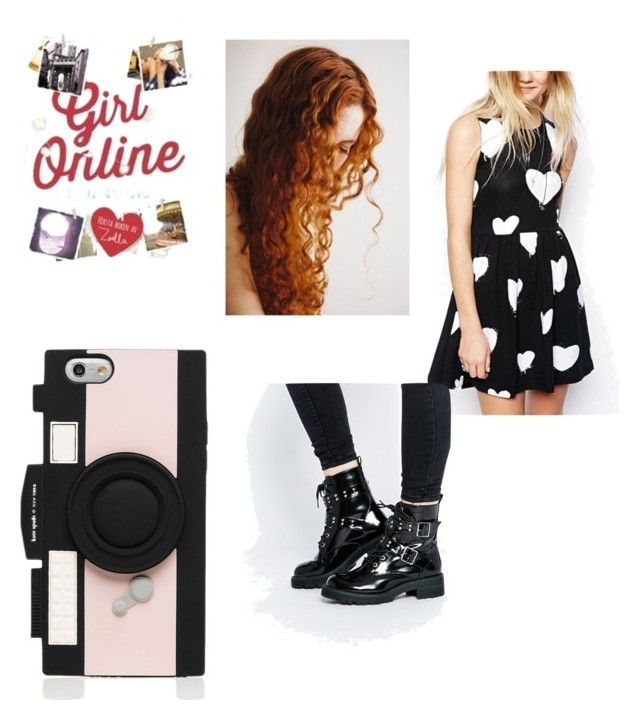 """""""Penny Porter aka girl online"""" by dayz-xoxo ❤ liked on Polyvore featuring Kate Spade and ASOS"""