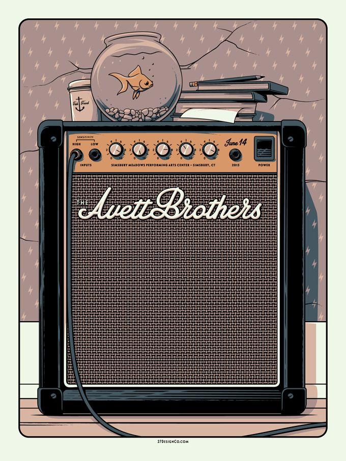 Charles-Crisler-The-Avett-Brothers-Simsbury-Poster-2015-27Design-Co-1