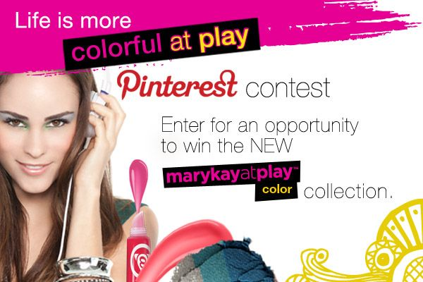 Let your artistic imagination run wild! Crank up the color wattage. Get flirtatiously daring. Enter for your chance to win the NEW Mary Kay at Play™ color collection complete with colorful lip & eye crayons, daring eye trios and bright jelly lip glosses… so you can play, your own way!