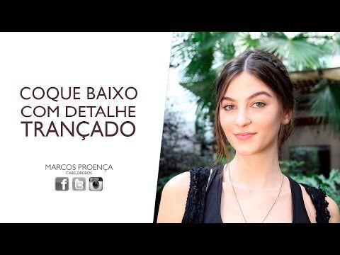 COQUE BAIXO COM DETALHE TRANÇADO - YouTube