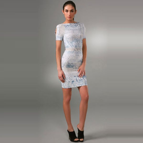 Herve Leger Couture Dress in Bright Blue  $159.39