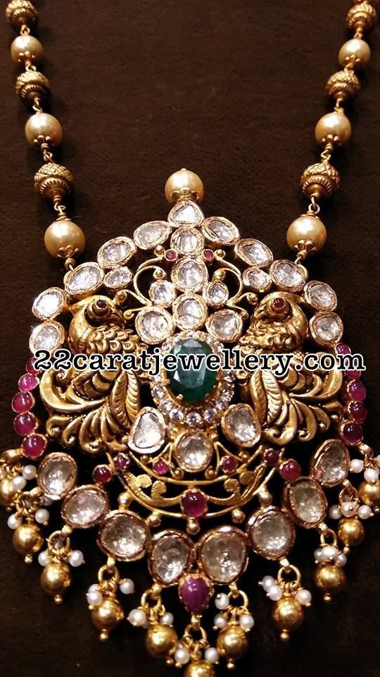 Pachi Pendant with Nakshi Balls Set - Jewellery Designs